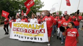Castro, Democrat Candidates Show Support for Striking McDonald's Workers