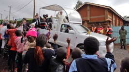 Pope Presses Case for Dignified Housing in Visit to Nairobi Slum