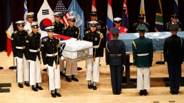 US, S. Korea Hold Ceremony to Return Home War Remains