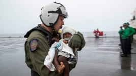 Navy Ship From San Diego Rescues Group, Infant Lost at Sea