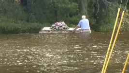S.C. Pastor Wades Into Floodwater to Retrieve Casket