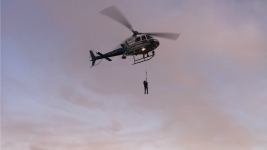 Helicopter Rescues 2 Suspected Vandals