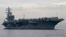US Navy Helicopter Crashes on Aircraft Carrier; Sailors Hurt