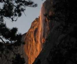 Majestic Yosemite Fall Goes Afire