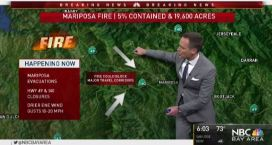 Jeff's Forecast: Cooler Bay Area & Mariposa Fire