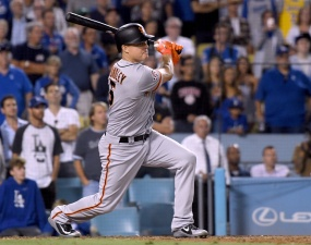 Giants Rally For 4 Runs in Ninth to Beat Dodgers