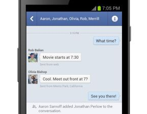Facebook Texting? Only on Android