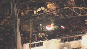 Aerial View of the Burned Oakland Warehouse