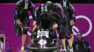 Holcomb Trails Russia in 4-Man Bobsled