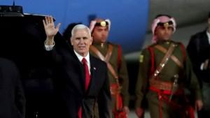 Jordan Urges Pence to 'Rebuild Trust' After Jerusalem Pivot