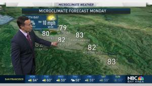 <p>High pressure will hold strong for another couple of days, bringing some mid-summer like temps to the Bay Area to start the work week. Meteorologist Rob Mayeda has your Microclimate Forecast.</p>