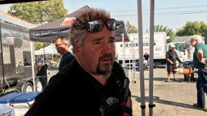Guy Fieri Cooks Barbecue in Fire-Devastated Santa Rosa