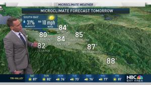 <p>Temperatures will stay warm inland on Saturday.  Chief Meteorologist Jeff Ranieri tracks who reaches near 90.  Plus, the Air Quality Alert and why the sky could be hazy in your Microclimate Forecast.</p>