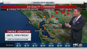 <p>Smoke continues to linger from the California fires.  Chief Meteorologist Jeff Ranieri has more on when the smoke could improve with increasing rain chances in your Microclimate Forecast.</p>