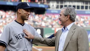 George W. Bush Surprises Jeter in Rangers Farewell
