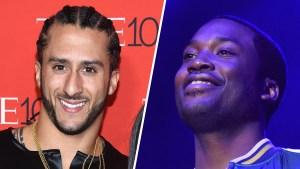 Kaepernick Says Imprisoned Rapper Meek Mill in 'Good Spirits'