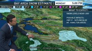 <p>A freeze warning and winter weather advisory will soon be in effect for some Bay Area locations.</p>