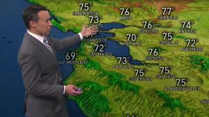 <p>Clearing skies with mostly sunny conditions, a bit breezy at times (though not as gusty as Saturday) for your Easter Sunday plans.  Highs will be in the mid 60s to low 70s from the coast to inner bay with mid 70s into the inland valleys. Look for temps to climb much higher Tuesday-Thursday as a Summer-sized ridge of high pressure builds in and brings a Summer-like boost to our temperatures.  We could see our first Summer-type Spare the Air days midweek if winds remain light under strong high pressure. We may also approach 90 degrees for the first time in our inland valleys since late last September.</p>