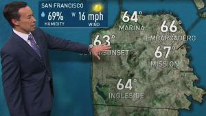 <p>High pressure will build over NorCal into Monday which will result in temps warming up noticeably inland, but on the coast not so much.  Look for 60s near the coast and SF with 70s around the inner bay with 80s inland for Sunday.  Valleys may approach some 90s esp. interior Solano and Contra Costa counties for Memorial Day Monday as temps climb a few more degrees elsewhere. Another area of low pressure will drop down the coast later Tuesday that will being a renewed push of marine air and cooler temperatures by midweek.</p>