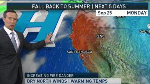 <p>Expect warmer temperatures and dry air across the Bay Area on Sunday.</p>