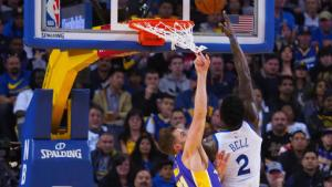 Without the Splash Brothers, Shorthanded Warriors top Lakers