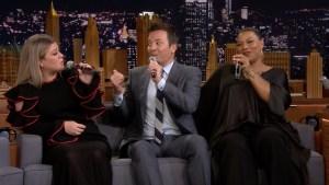 'Tonight': Kelly Clarkson, Queen Latifah Make Doo-Wop Song on iPad
