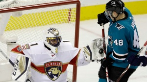 Luongo Picks Up a Career First in Panthers Win Over Sharks