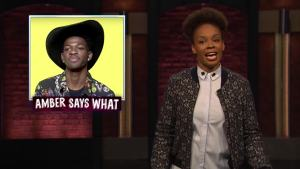 'Late Night': Amber Says 'What?' to Beyonce, Lil Nas X