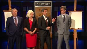 'Late Night': Pictionary With the Meyers Family