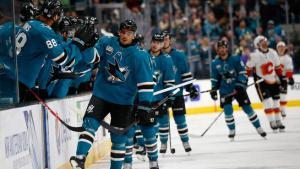 Sharks Bounce Back, Douse Flames 3-1