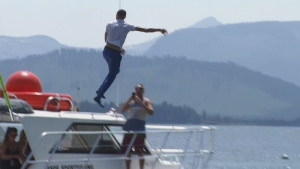 Steph Wetter? Curry Jumps Into Lake Tahoe After Losing Bet