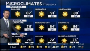 A Summer-like spread of microclimates will be around the Bay Area over the next few days with fog cooled 60s and 70s near the coastline and inner bay, 80s around the Peninsula and East Bay, and 80s to mid and upper 90s across the warmest valleys of the interior East Bay and South Bay.  Temps should rise slightly higher on Friday, closing in on some spots in the 100-105 range, possibly record territory.  Even as temps cool slightly on Saturday (into the upper 80s and mid 90s), clouds should be on the increase ahead of an upper level low that could make for more interesting weather by Sunday.  We are expecting cooling as clouds begin to increase and winds turn slightly more onshore.  However, increasing mid-level moisture and vertical motion in the atmosphere may provide the fuel/trigger for isolated thundershowers especially near the hills.  Given how dry the boundary layer will be after several days of heat, these conditions should they develop may increase fire danger concerns due to lightning strikes and sudden wind gusts near thunderstorms.  Stay tuned.