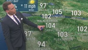 <p>Temperatures surge a few degrees warmer Saturday to bring one Bay Area city to 105&deg;.  Chief Meteorologist Jeff Ranieri tracks this and what&rsquo;s next Sunday in your Microclimate Forecast.</p>