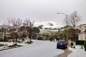 Hailstorm Rolls Through South Bay