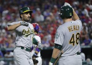 A's Hold Lead, Bounce Back to Defeat Rangers