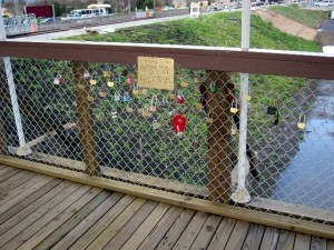 Love Lock Bridge's Fuzzy Addition