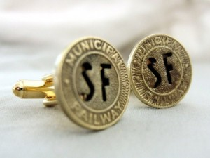 Gold Muni Token Cufflinks