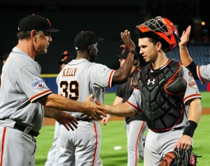 Pence Drives in 4, Giants Rally Past Braves