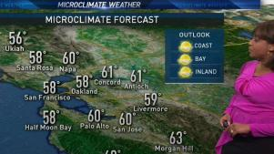 <p>Spotty showers will be possible near Santa Rosa and northward.  Meteorologist Kari Hall has details in the Microclimate Forecast.</p>