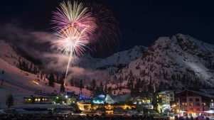 Winter Dazzle: Saturday Fireworks at Squaw Valley
