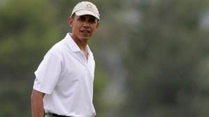 Obama Golfs With Alonzo Mourning on Fla. Getaway