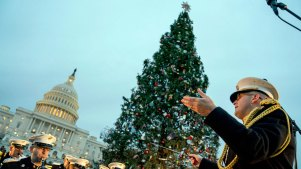 79-Foot Montana Christmas Tree Lit Outside US Capitol