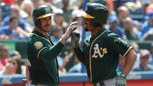 Mengden Leads A's Over Blue Jays 9-2 for Rare 4-Game Sweep