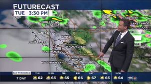 A few small disturbances will move across the Bay Area the next 24 hours to keep a slight chance of showers and isolated thunderstorms.  Chief Meteorologist Jeff Ranieri tracks this plus a warming trend for Memorial Day Weekend.
