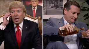 Jimmy Fallon's Donald Trump Calls Ted Cruz