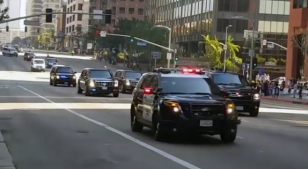 Officer Assigned to President's Motorcade Crashes on Fwy