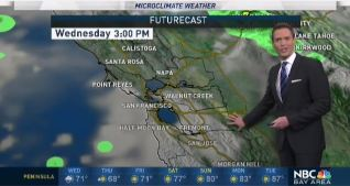 <p>A weak system will move over the Bay Area Wednesday morning to bring clouds, spotty drizzle and a slight chance of rain.  Chief Meteorologist Jeff Ranieri tracks when we'll clear and warmer 90s could return in your Microclimate Forecast.</p>