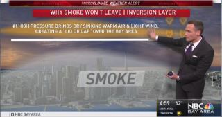 Chief Meteorologist Jeff Ranieri explains why the smoke won't leave the Bay Area.  Plus, details on if there's any chance of clearing soon in the forecast.