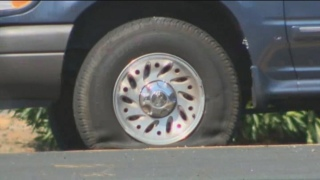 Bank Robbers' SUV Riddled with Bullets