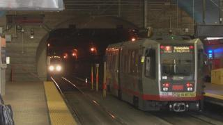 Rescue Crews Respond to Injured Man on Top of Train in SF Muni Tunnel
